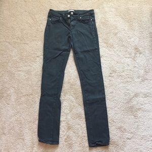 PAIGE | Peg Skinny | Hunter Green Jeans